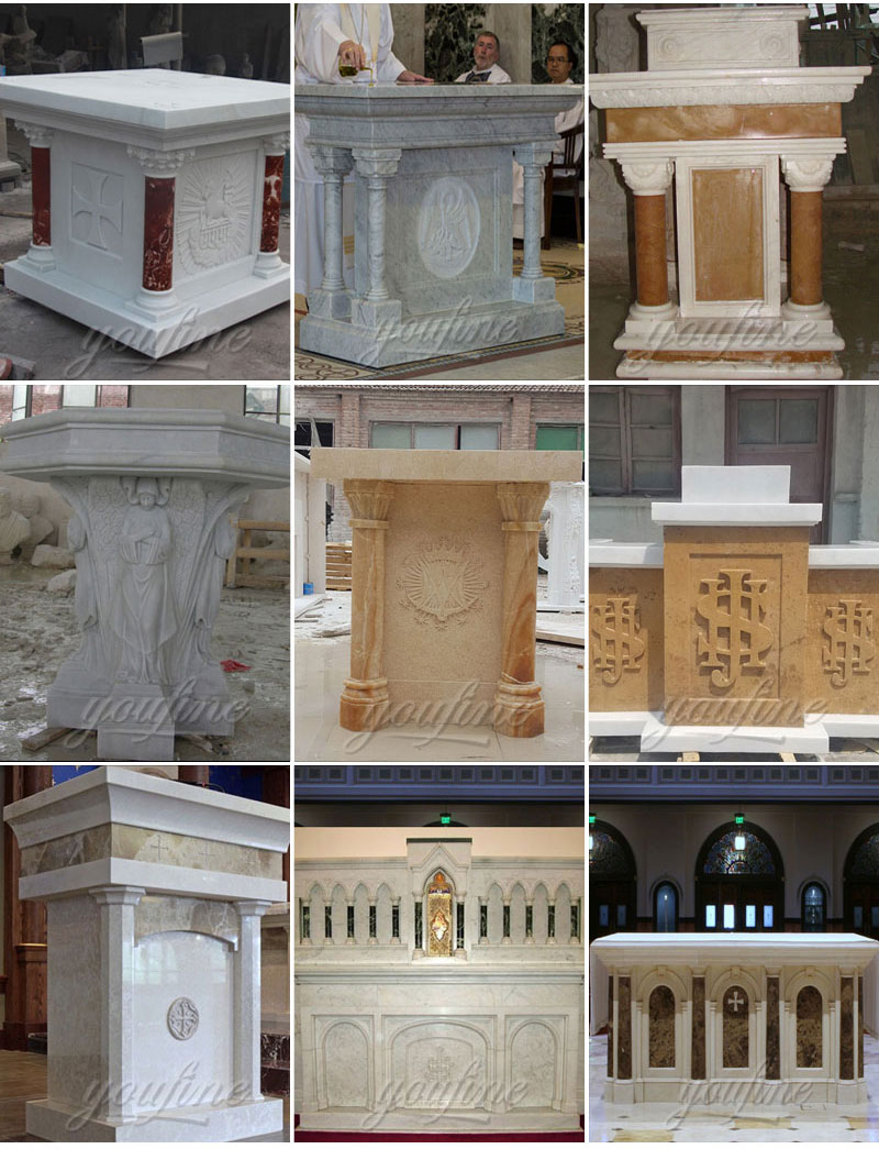 Altar and pulpit statues