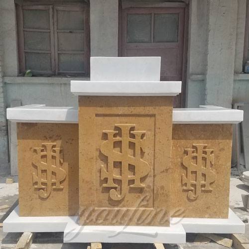 Large marble religious church altar table for sale
