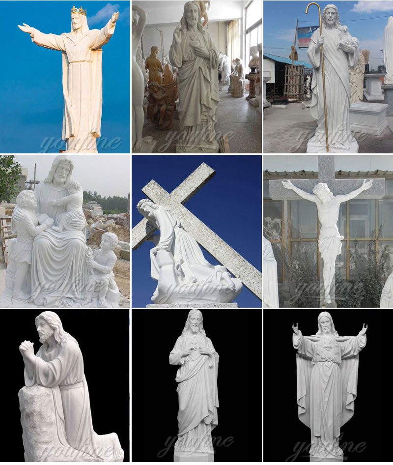 Christian Jesus Statue is a famous religious statue. This classical statue is made of natural marble,Height is l80cm, You Fine also offer customized design, size and material. It is a wonderful decorations for garden and church. Call or email us for more details! There are mainly five kinds of popular church sculpture in You Fine, Virgin Mary Statues, Jesus Statues, Altar Statues, Pulpit Statues and font statues. You also could find other kinds of church stone products at You Fine. At You Fine, there are more than 1869 popular sculpture design and all of them could be customized into any size based on customer's requests. Abundant choices of design ,materials and colors are also Available. Our designer and sculptor could vividly pass the spirit and air of sculpture according to the customer's description. Here at You Fine, talented designers could make the CAD drawing and installation direction,QC team control the quality strictly, better quality and better service is our main goal for a life time.