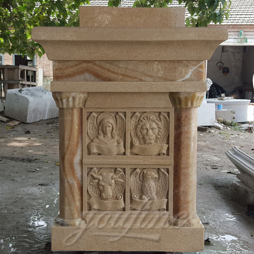 Hot selling beige marble religious altar table for church