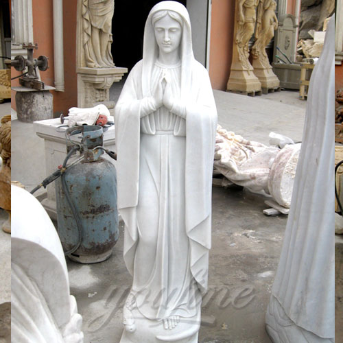 Marble religious Blessed Virgin Mary Statues for church