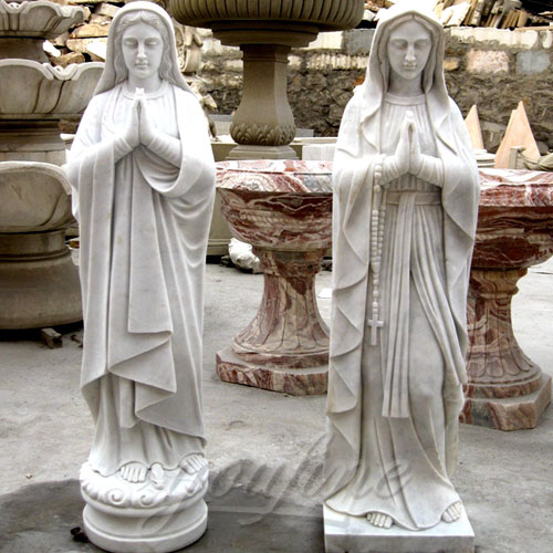 Blessed Marble Virgin Mary Statue for Hot Selling