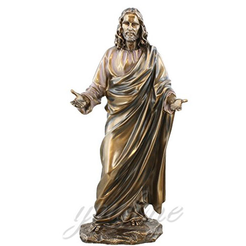 Factory Direct Sale Bronze Jesus Statue Christian Decoration