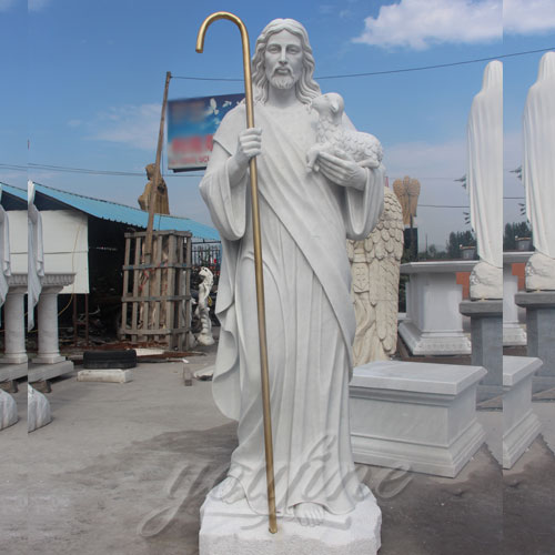 Factory Direct Supply Natural Marble Jesus Statue for Sale