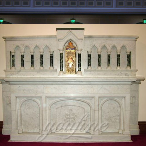 Glory Custom Made Large Church Decorative Religious Marble Altar Table for Sale