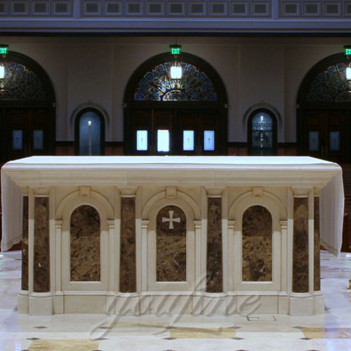 Indoor Large Marble Altar Catholic for Church Decoration