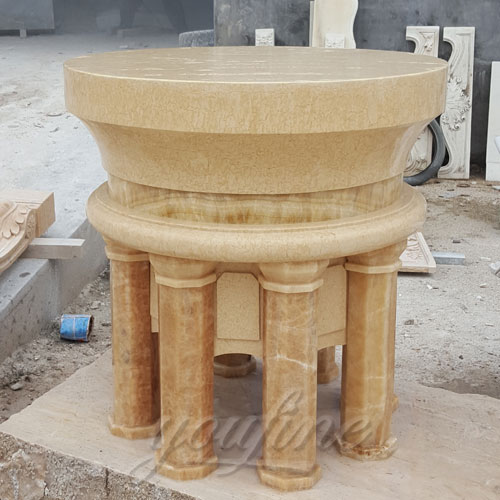 Small Indoor Religious Marble Altar Table for Church Decor