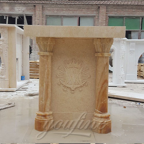 Top Quality Marble Hand Carved Pulpit For Church Decor For