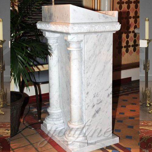 Wholesales White Natural Marble Pulpit for Sale