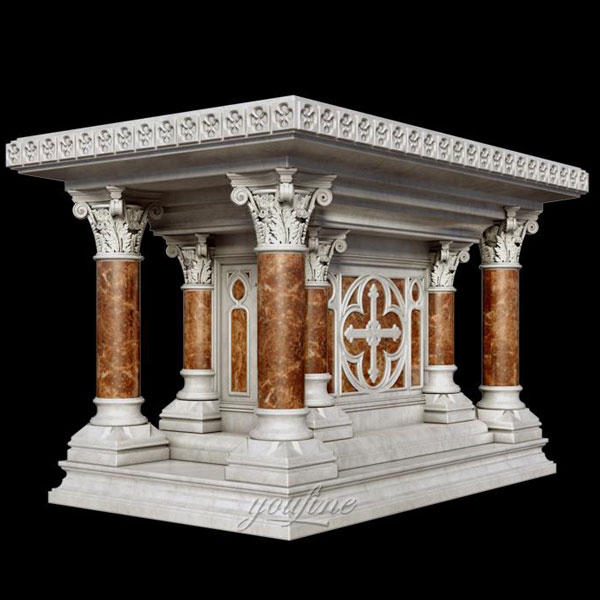 Luxury marble altar stand for catholic church interior decor