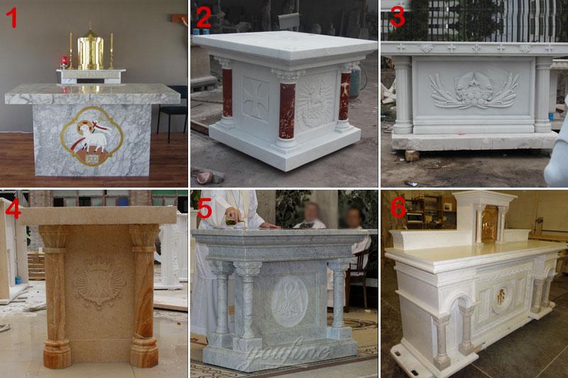 Marble church altar designs