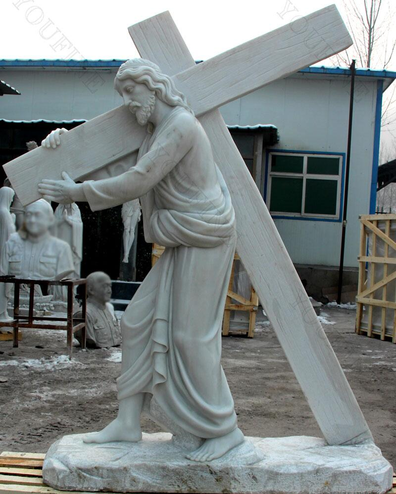 Jesus carrying cross statue for sale