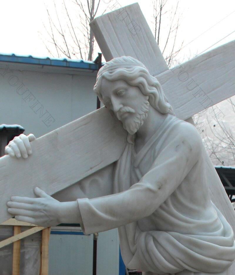 catholic statue Jesus carrying cross statue for sale