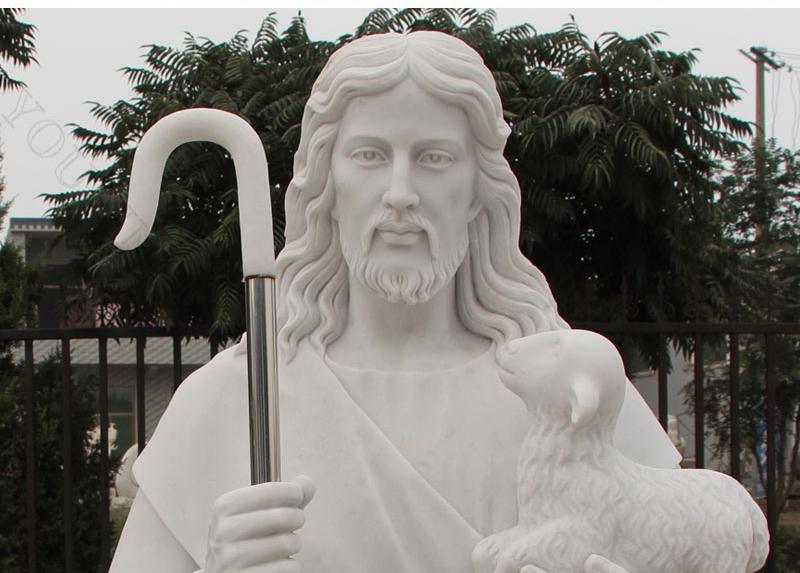 Jesus Shepherd Marble Statue for sale