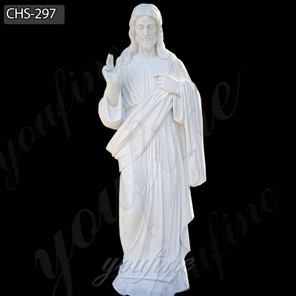 Life Size Outdoor Jesus White Marble Statue Catholic Garden Sculpture for Sale CHS-297
