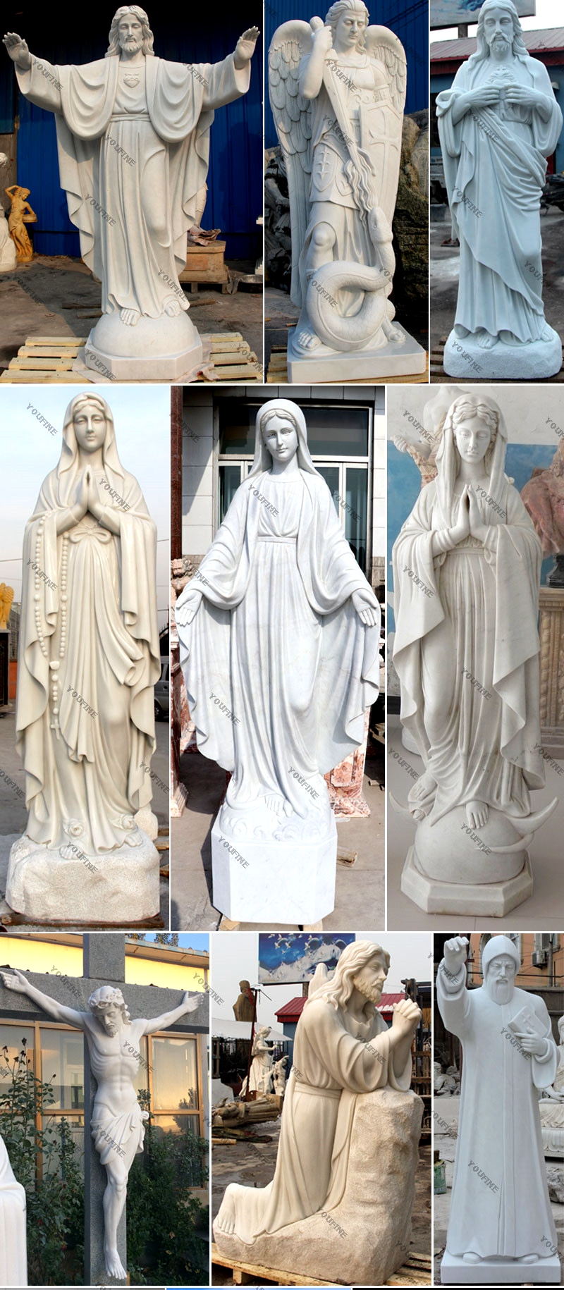 Michelangelo's Pieta Maria Holding Jesus Statue for sale