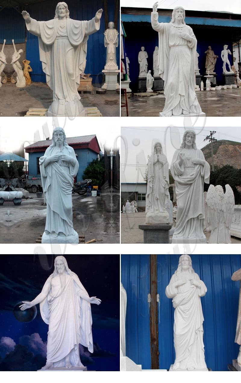 Outdoor Jesus Shepherd Marble Statue for sale