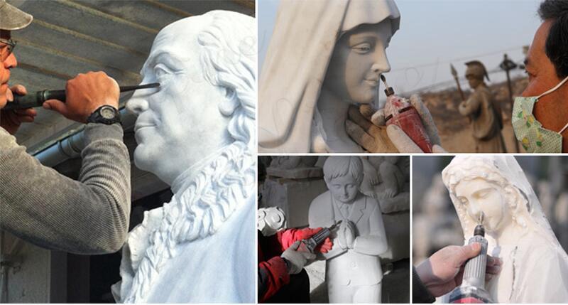 Outdoor Jesus Shepherd Marble Statue