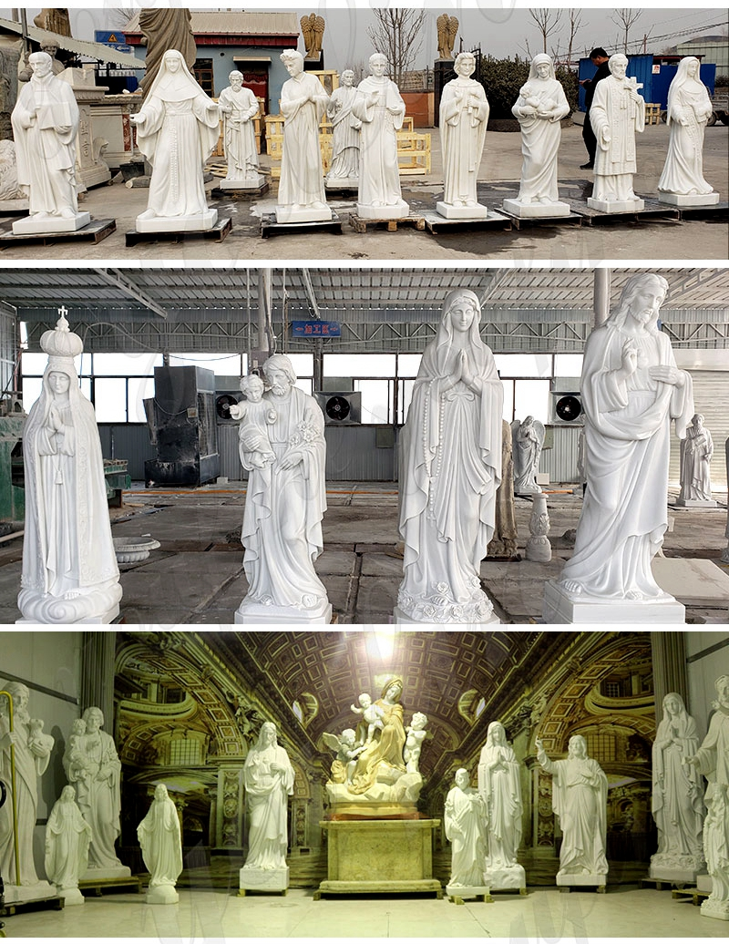 Outdoor Jesus White Marble Statue for sale