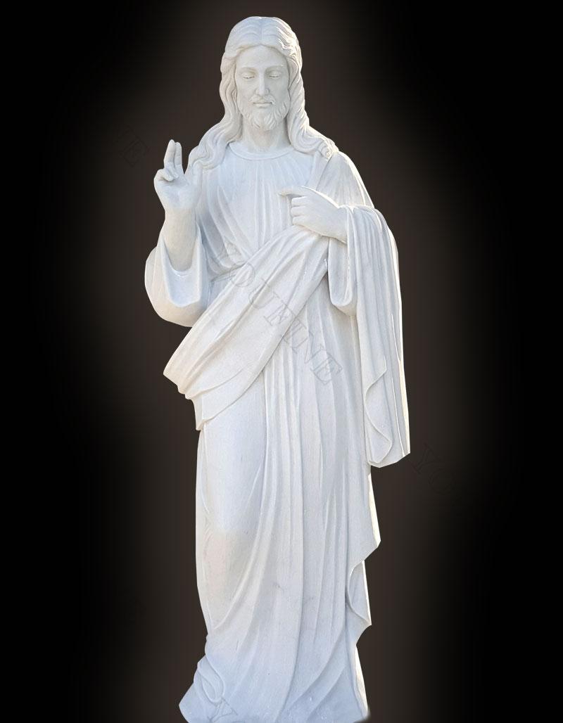 Outdoor Jesus White Marble Statue