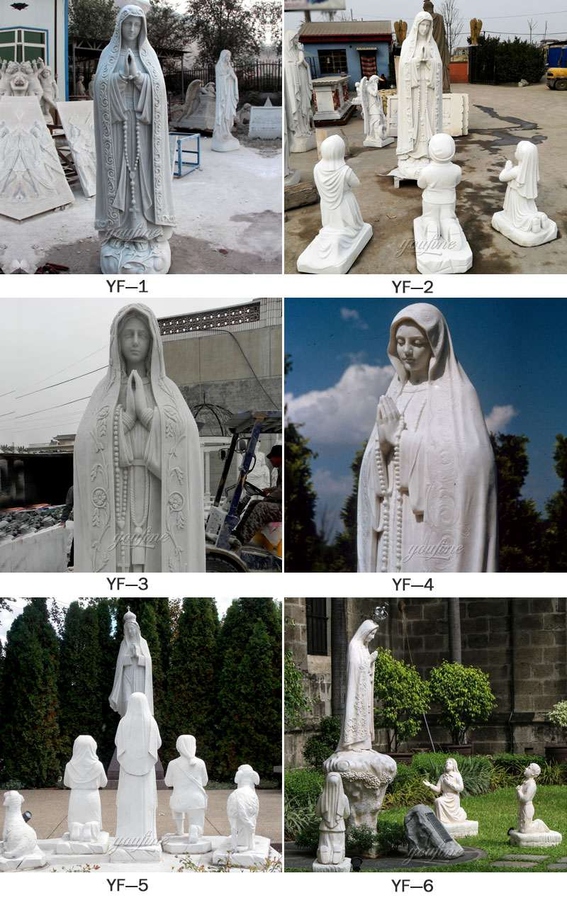 Religious Life Size Marble Mary Statues Garden Sculpture