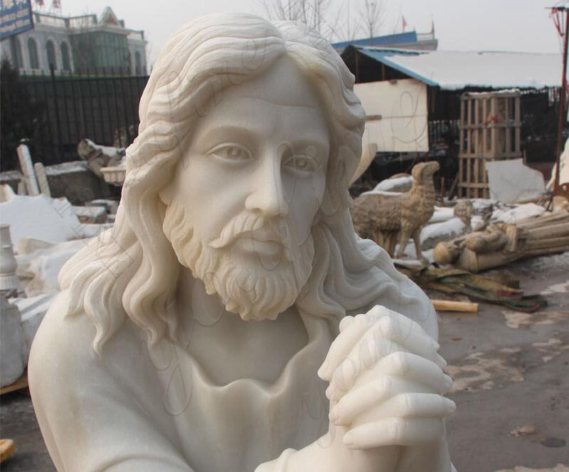 jesus statue kneeling praying statue for sale