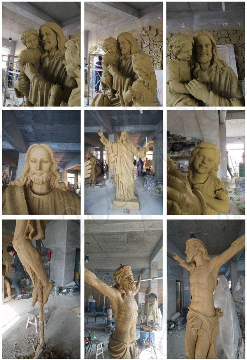 Catholic Garden Decoration Marble Jesus Sculpture