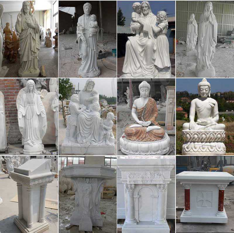 Classic Catholic Garden Decoration Marble Jesus Sculpture