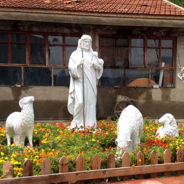 Hot Saleing Classic Catholic Garden Decoration Marble Jesus Sculpture CHS-603