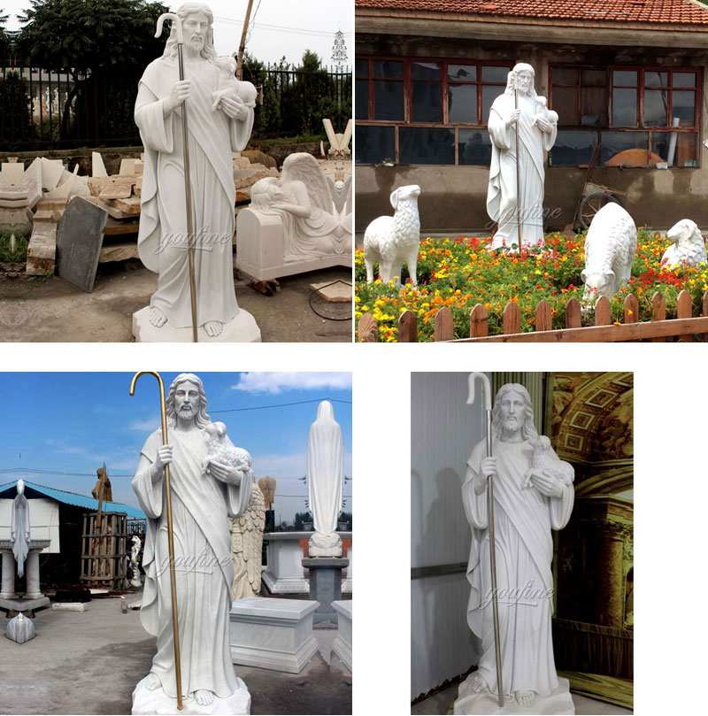 Hot Saleing Classic Catholic Garden Decoration Marble Jesus Sculptures