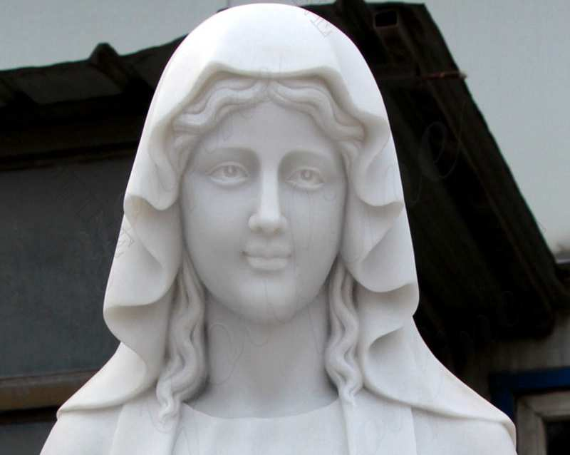 Life Size Catholic White Marble Mother Mary Statue for Sales