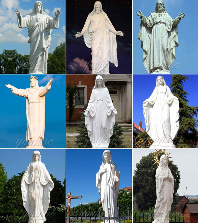 Life Size Religious White Marble Statue of Jesus for sale