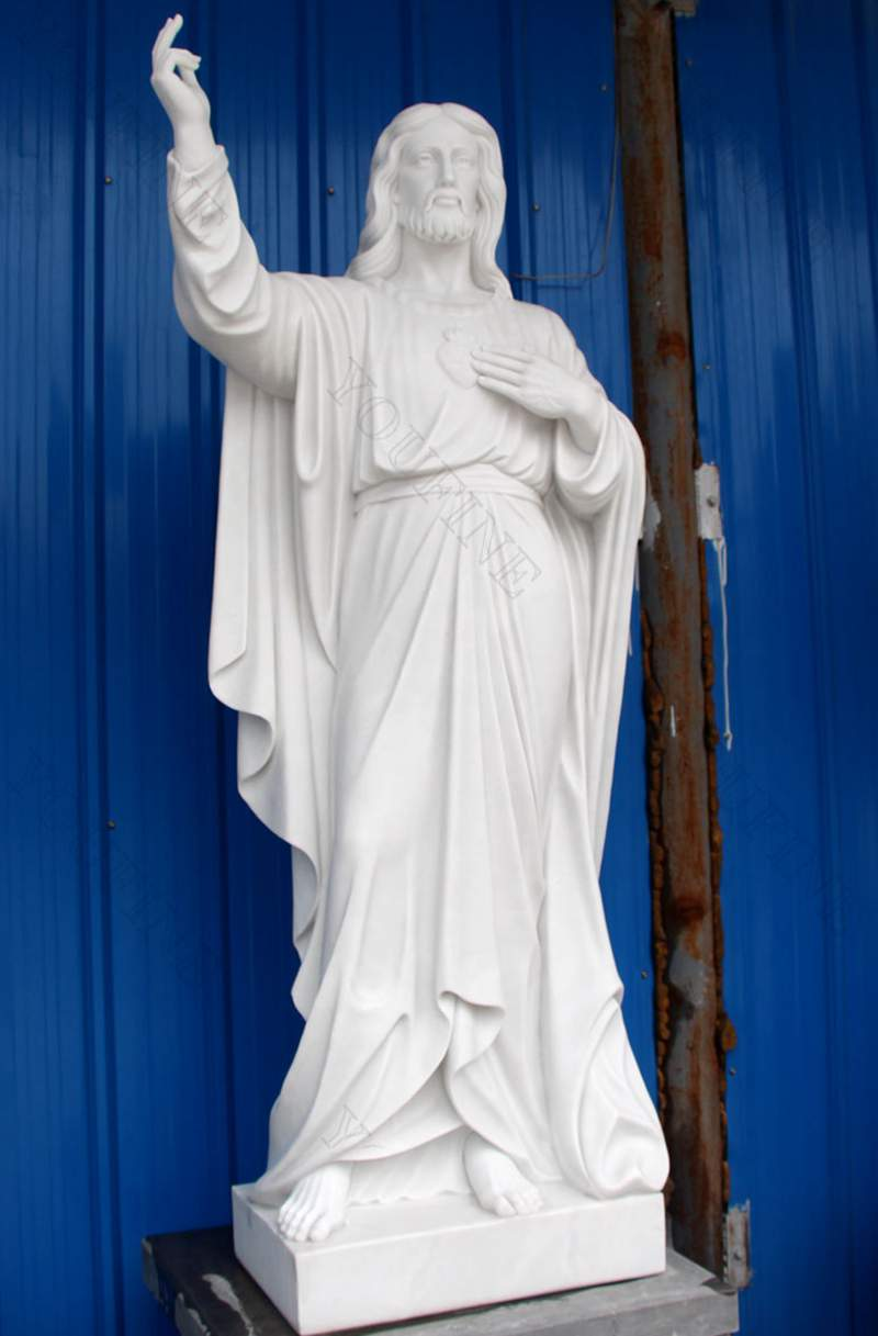Life Size Religious White Marble Statue of Jesus