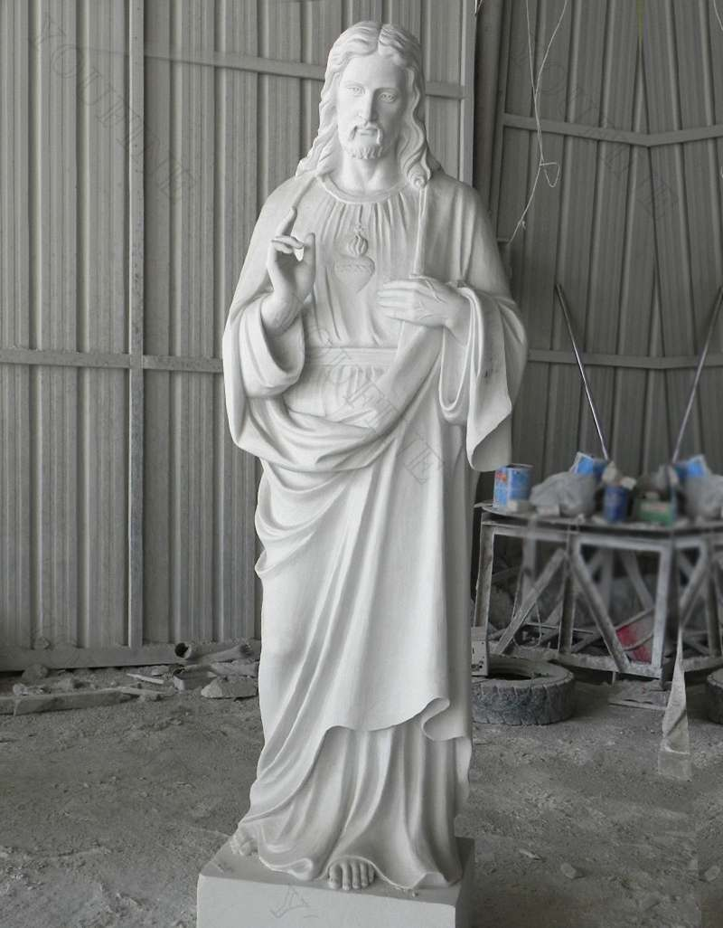 Marble Jesus Life Size Sculpture Supply with Competitive Price for sale