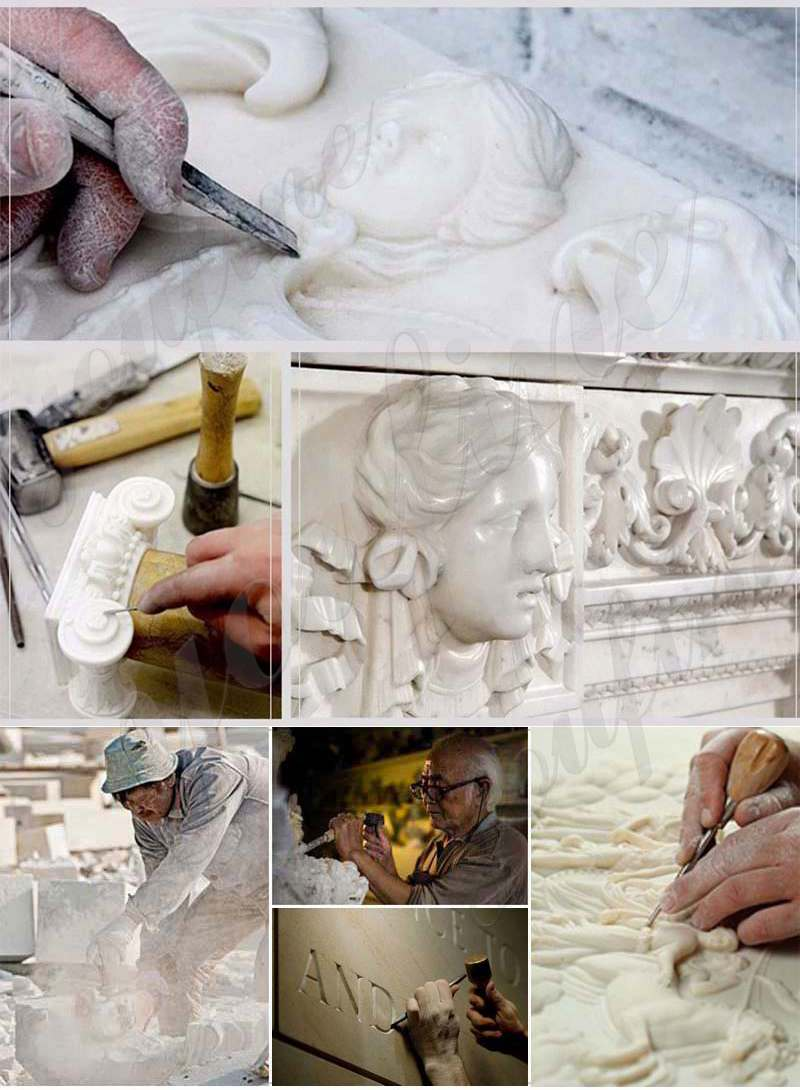 process of Marble Jesus Life Size Sculpture Supply