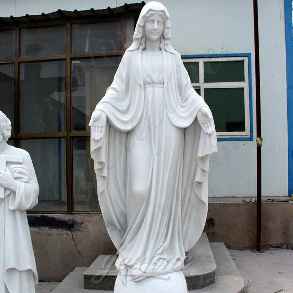 Life Size Catholic White Marble Mother Mary Statue for Sale CHS-266
