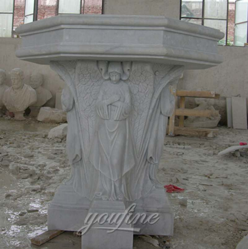 Hand Carved Marble Stone Church Use Pulpit in Stock for Sale