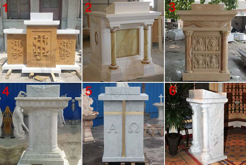 Hand Carved Marble Stone Church Use Pulpit