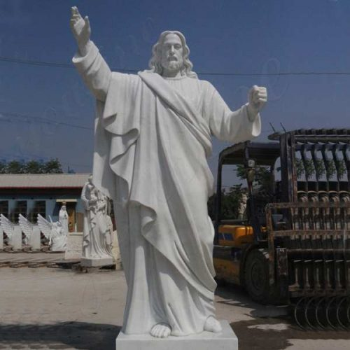 Jaint catholic white marble church statues of christ Jesus making for parish ceremony