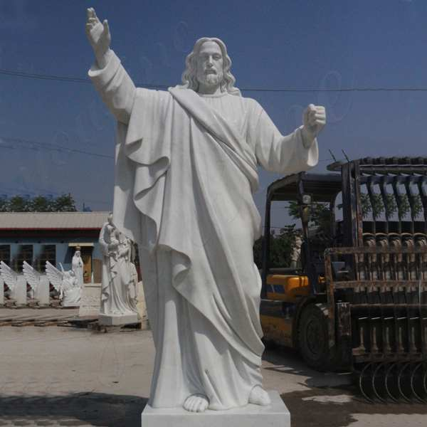 Classic Marble Life Size Jesus Statue with Hands Open for Sale CHS-608
