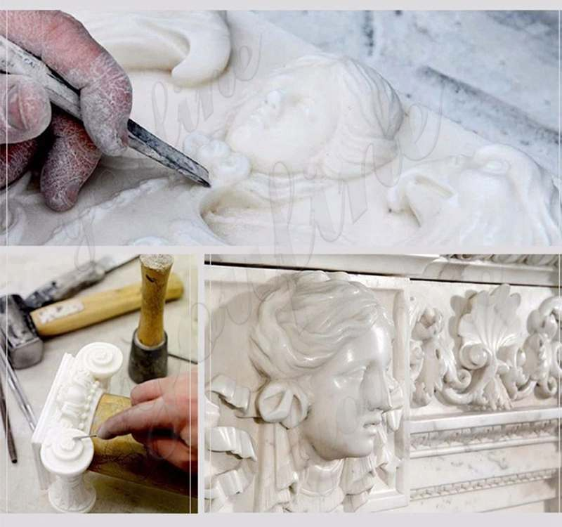 process of Hand Carved Marble Stone Church Use Pulpit
