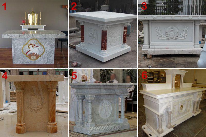 Customized Marble Altar Design for Church