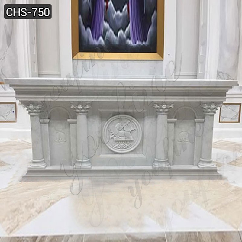 Factory Supply Customized Marble Altar Design for Church CHS-750