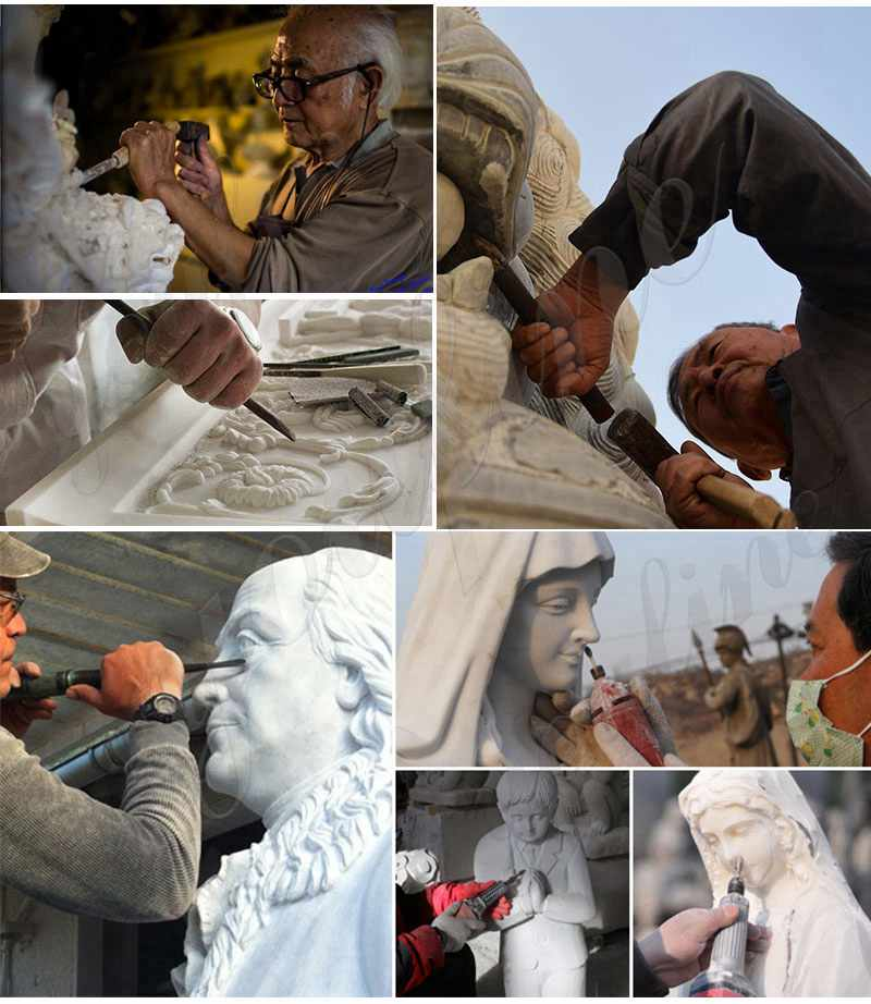 Process of Sacred Heart of Jesus Marble Statue
