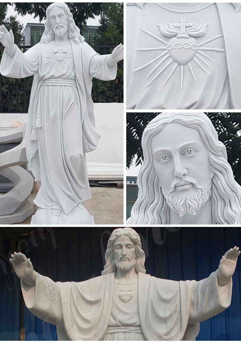 Sacred Heart of Jesus Marble Statue