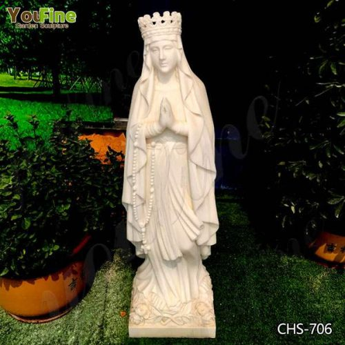 Catholic Life Size Our Lady of Lourdes Statue Outdoor for Sale