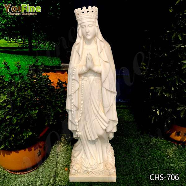 Catholic Life Size Our Lady of Lourdes Statue Outdoor for Sale CHS-706