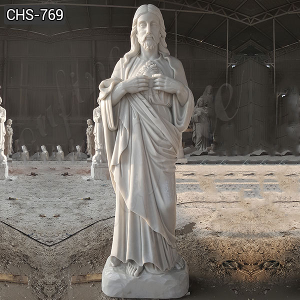 Classic Church Life Size Jesus Marble Statue from Factory Supply CHS-769