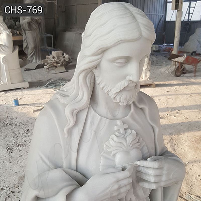 Classic Church Life Size Jesus Marble Statue
