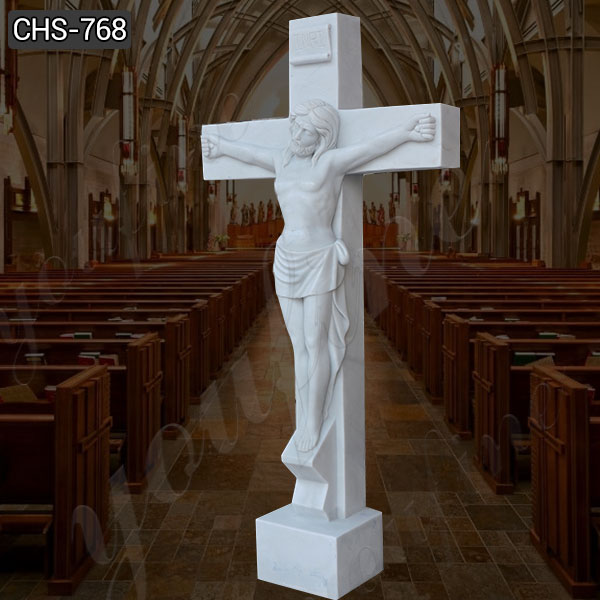 Life Size Marble Crucified Jesus Statue for Church Decor Suppliers CHS-768